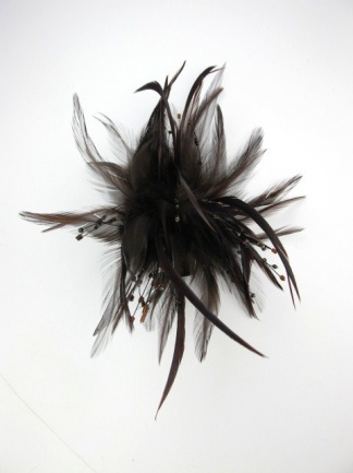 Brown Feather and Sequin Clip Fascinator