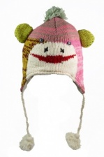 Cute Multicolour Wool Animal Hat from Nepal