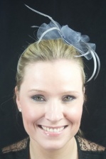 Grey Crinoline Hairband Fascinator