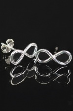 Sterling 925 Silver Infinity Stud Earrings with Gift Box