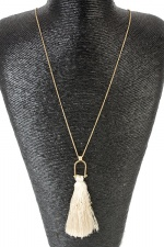 Long Gold & Tassel Trendy Necklace