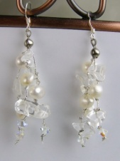 Freshwater Pearl & Rock Crystal Earrings