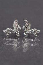925 Sterling Silver Pegasus Stud Earrings with Gift Box