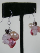 Pink Nannapas Pearl and Semi-Precious Earrings