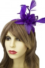 Purple Pretty Flower Hairband Fascinator
