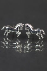 925 Sterling Silver Horse Stud Earrings with Gift Box