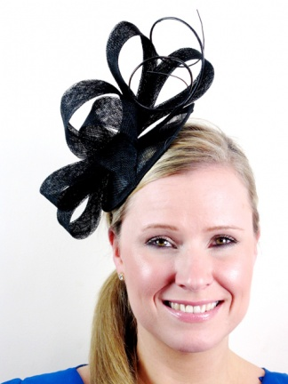 Black Contemporary Style Hairband Fascinator with Quills