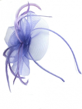 Light Purple Crinoline Flower Hairband Fascinator