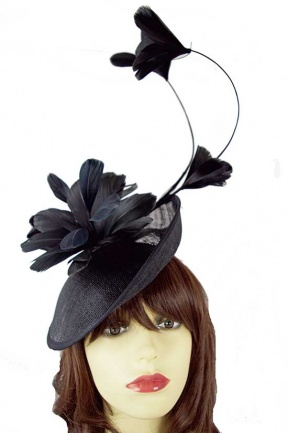 Black Mary Poppins Saucer Hat Hairband Fascinator