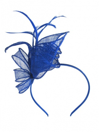 Cobalt Blue & Feather Hairband Fascinator