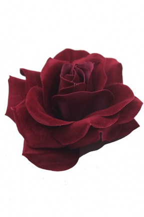 Beautiful Dark Red Rose Hair Flower Clip