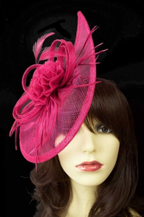 Contemporary Fuchsia Pink Fascinator