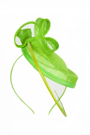 Green Contemporary Style Hatinator Style Hairband Fascinator