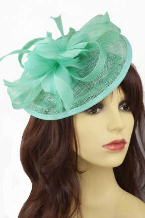 Green Small Hat Hairband Fascinator