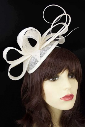 Ivory Contemporary Quill & Loop Hairband Fascinator