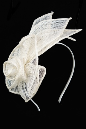 Ivory Sinamay Rose Design Aliceband Fascinator