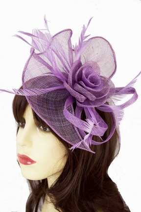 Large Lilac Hairband & Clip Fascinator