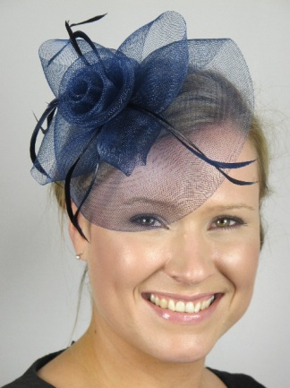 Navy Blue Crin Hair Fascinator