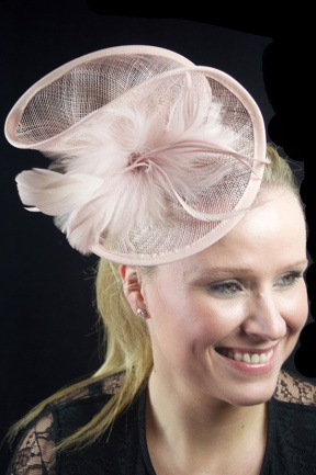 Nude Dusky Pink Large Hairband Fascinator