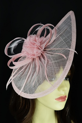 Pale Pink Contemporary Fascinator with Hairband