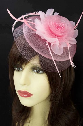 Pretty Pale Pink Double Layer Hairband Fascinator