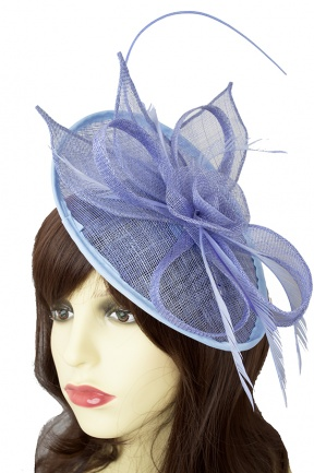 Powder Blue Hat Fascinator with Clip & Hairband