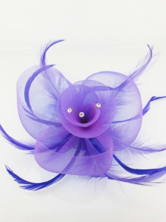 Purple Crin Fascinator with Crystals