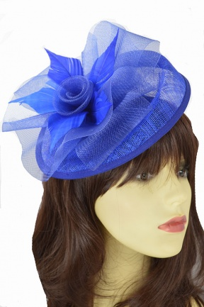Royal Blue Hat & Flower Hairband Fascinator
