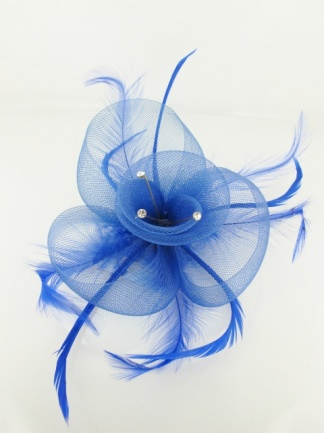 Royal Blue Crin and Crystal Budget Fascinator