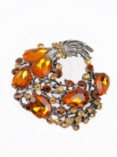 Amber Colour Sparkling Brooch
