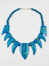 Turquoise Blue Bone Ethnic Style Contemporary Necklace