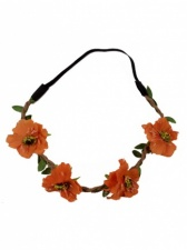 Coral Colour Flower Hair Garland