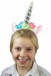 Cute Unicorn Hairband with Silver Horn