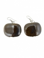 Ceramic Square Bead Earrings