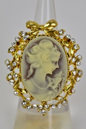 Gold Colour Cameo Ring