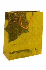 4 x Large Gold Foil Hologram Christmas Gift Bag