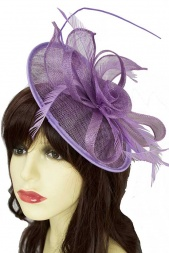 Lilac Hat Fascinator with Quill & Feathers