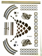 Gold & Silver Metallic Temporary Tattoo 12 By PrettyCool