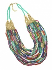 Multicolour Layered Bead Ethnic Necklace