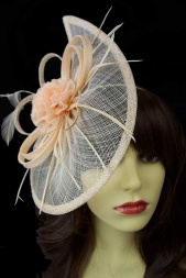 Nude/Peach Contemporary Style Fascinator