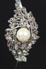Pretty Pearl & Crystal Side Detail Bridal Aliceband