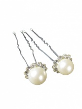 Pair of Pearl & Crystal Hair Pin
