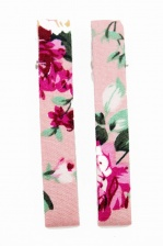 Pair of Pink Pretty Floral Fabric Hair Clips
