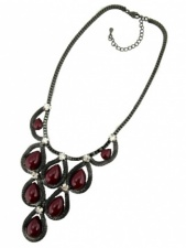 Red and Grey Statement Fashion Necklace