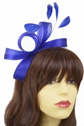 Royal Blue Crinoline Bow Hairband Fascinator