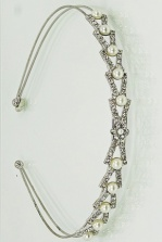 Vintage style sparkling crystal and pearl bead aliceband