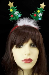 Sparkly Christmas Tree Fun Head Boppers