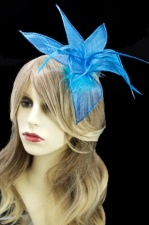 Turquoise Blue Clip & Pin Fascinator
