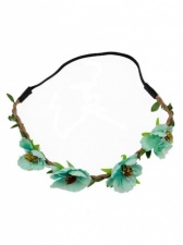 Turquoise Blue Flower Garland