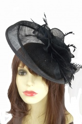 Large Black Hairband Fascinator